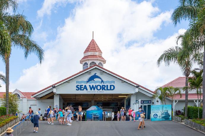 黄金海岸海洋世界(Sea World)是澳洲最大的海洋公园,拥有世界级的展览设施与种类丰富的海洋生物,包括崭新的企鹅馆、北极熊海岸和鲨鱼湾,以及精彩的海豚、海狮表演。海洋世界不仅设置了大型的水族馆区,还建有很齐全的各项游乐设施;游客在这里除了可以欣赏到不同海洋动物的表演以外,还可以尽情地玩乐。