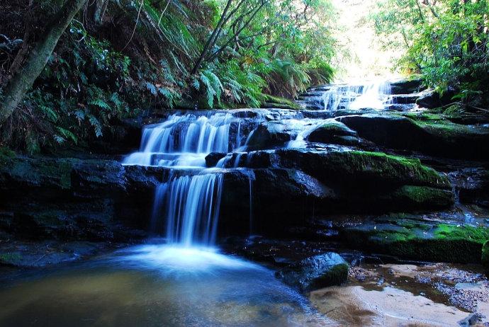 杰美逊山谷从卡通巴山孤岭外侧南北绵延,约有4公里(2.5英里)长。从西到东,它横跨窄颈的高原王塬,有约10公里(6.2英里)宽。像整个悉尼和蓝山地区,山谷是一个砂岩地区,其特点是陡峭的砂岩悬崖。