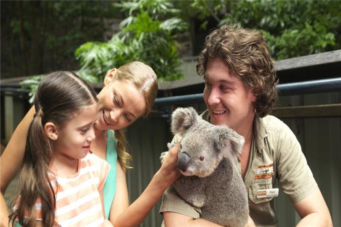 汉密尔顿岛野生动物园位于全岛中心,岛上动物园虽然没有城市里的那样大,但是袋鼠,考拉,鳄鱼,以及澳洲其他的一些典型动物应有尽有;