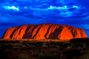 澳大利亚乌鲁鲁半日游·乌鲁鲁日出+原住民岩画