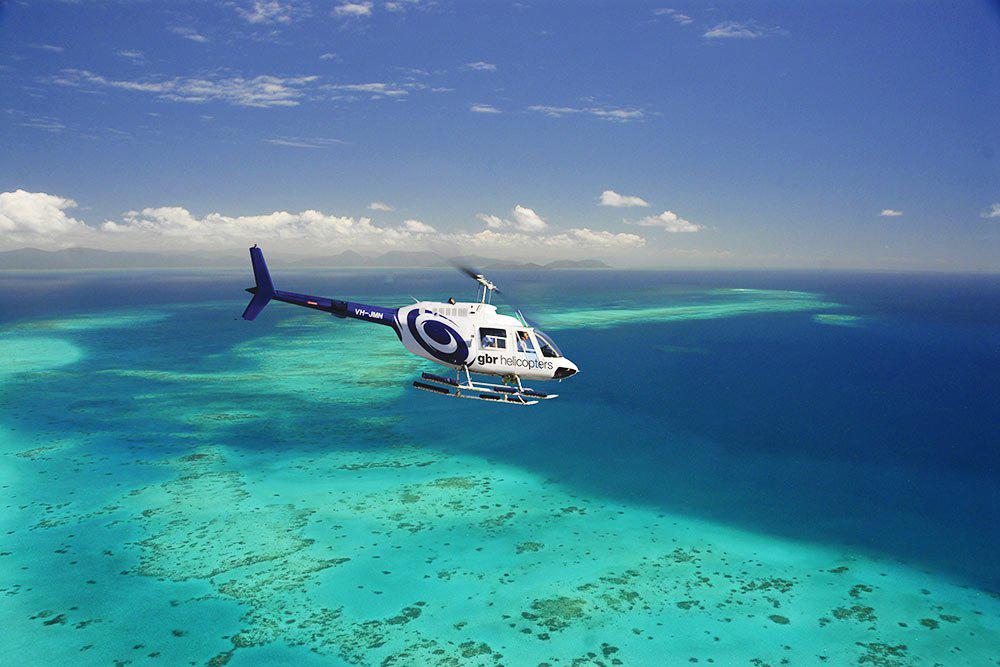 阿金考斯特大堡礁(Quick Silver银梭号)-1日游船+直升机游览