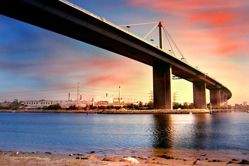 墨尔本西门大桥(Westgate Bridge)