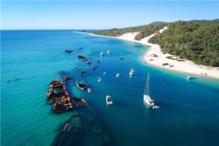 澳大利亚布里斯班海豚岛1日游·天阁露玛海豚岛+喂食野生海豚+四驱车滑沙+迷你高尔夫